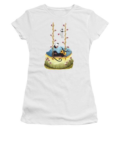 Summer Swing Women's T-Shirt (Junior Cut) by Lucia Stewart