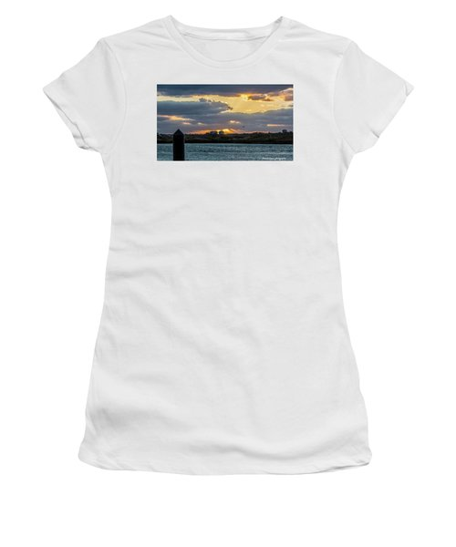 Sun Rays Over The Intracoastal  Women's T-Shirt (Junior Cut) by Nance Larson