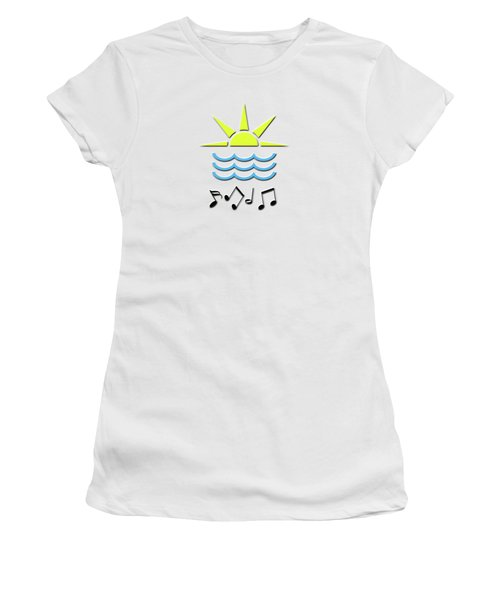 Sun, Sea And Music Women's T-Shirt (Athletic Fit)