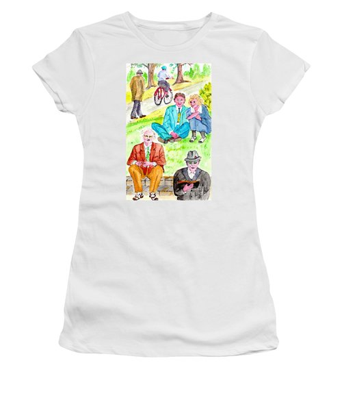 Sunday Morning In Prospect Park Women's T-Shirt (Athletic Fit)