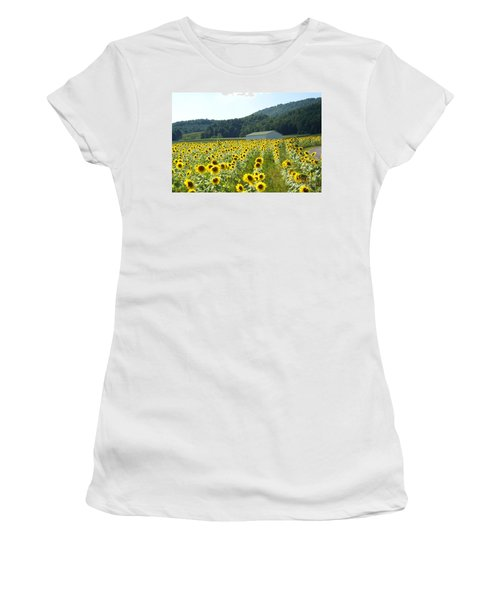 Sunflower Field Women's T-Shirt (Athletic Fit)