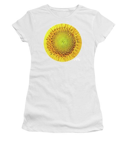 Sunflower Large Round Beach Towel Design Women's T-Shirt