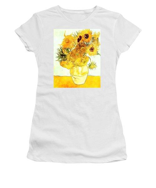Sunflowers Van Gogh Women's T-Shirt