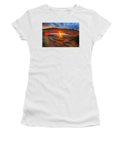 Sunrise At Mesa Arch Women's T-Shirt