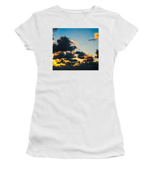 Sunrise On The Atlantic #14 Women's T-Shirt (Athletic Fit)