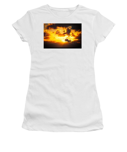 Sunrise On The Atlantic #17 Women's T-Shirt (Athletic Fit)