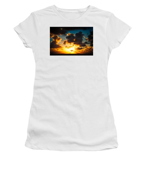 Sunrise On The Atlantic #19 Women's T-Shirt (Athletic Fit)