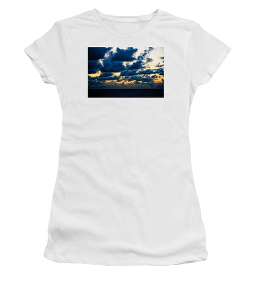 Sunrise On The Atlantic #7 Women's T-Shirt (Athletic Fit)