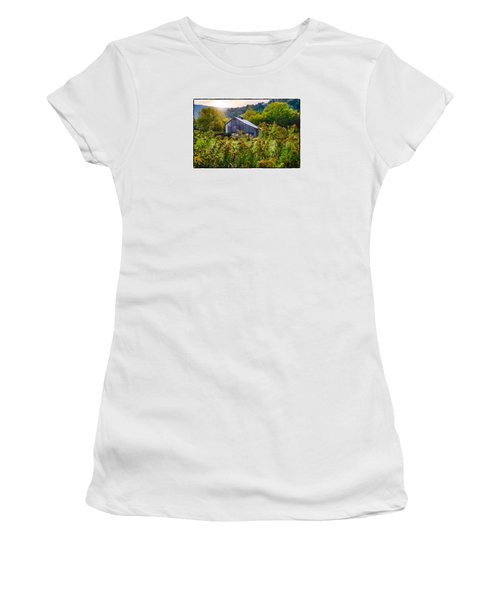 Women's T-Shirt (Junior Cut) featuring the photograph Sunrise On The Farm by R Thomas Berner