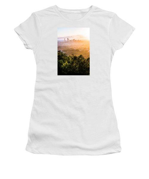 Sunrise Over Brisbane Women's T-Shirt (Junior Cut) by Parker Cunningham