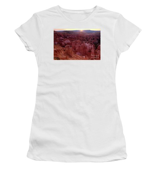 Sunrise Over The Hoodoos Bryce Canyon National Park Women's T-Shirt (Junior Cut) by Dave Welling
