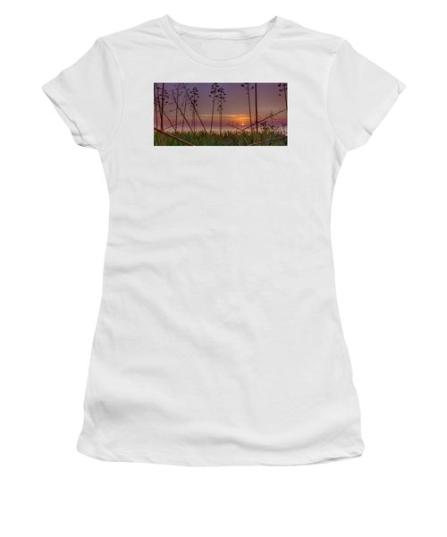 Sunrise Palm Blooms Women's T-Shirt