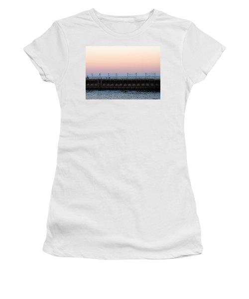 Sunset At Diversey Harbor Women's T-Shirt