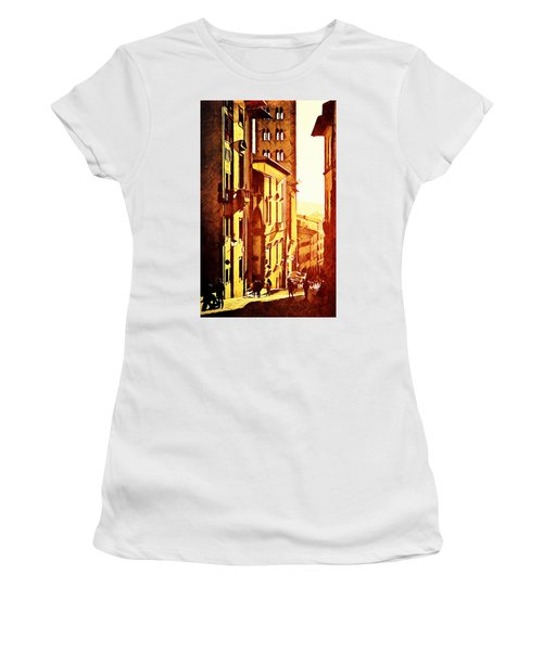 Sunset In Arezzo Women's T-Shirt (Junior Cut) by Andrea Barbieri