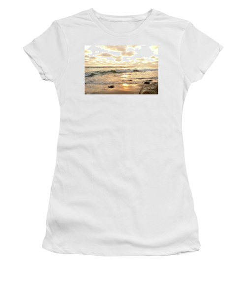 Sunset In Golden Tones Torrey Pines Natural Preserves #2 Women's T-Shirt (Athletic Fit)