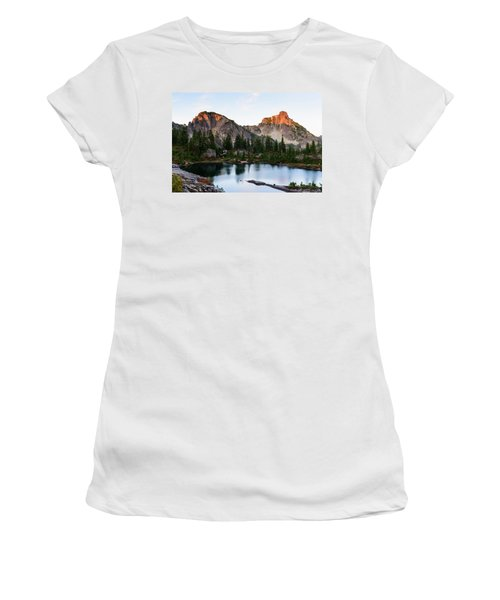 Sunset In Lila Lakes And High Box Mountain Women's T-Shirt
