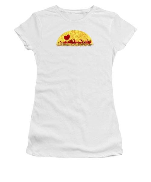 Sunset In The City Of Love Women's T-Shirt (Junior Cut) by Anton Kalinichev