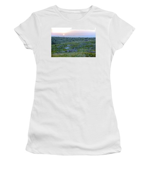 Sunset Over A 2000 Years Old Village Women's T-Shirt (Junior Cut) by Dubi Roman