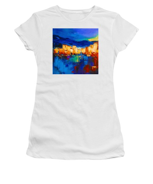 Sunset Over The Village Women's T-Shirt (Athletic Fit)