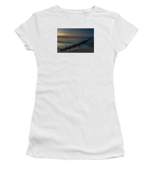 Sunset Zen Mood Seascape Women's T-Shirt (Junior Cut) by Julis Simo