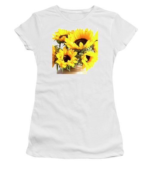 Sunshine Sunflowers Women's T-Shirt (Athletic Fit)