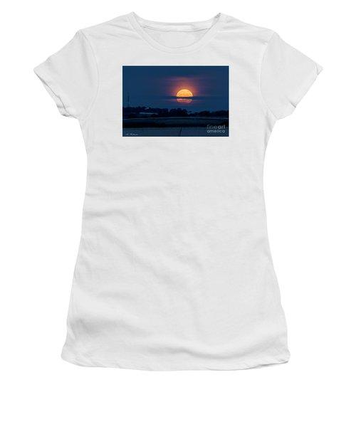 Super Moon Women's T-Shirt (Junior Cut) by Arik Baltinester