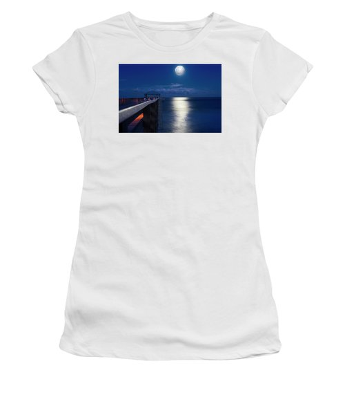 Super Moon At Juno Women's T-Shirt