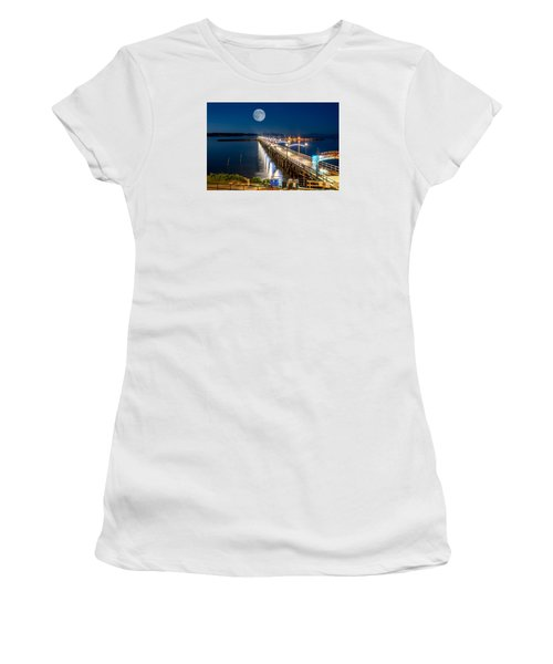 Super Moon Over White Rock Women's T-Shirt