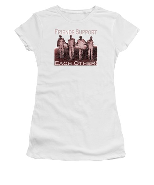 Support Friends In Bronze Women's T-Shirt (Athletic Fit)
