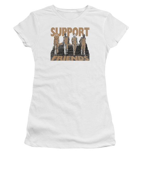 Support Friends Women's T-Shirt (Athletic Fit)