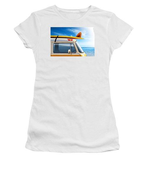 Surf Van Women's T-Shirt (Athletic Fit)