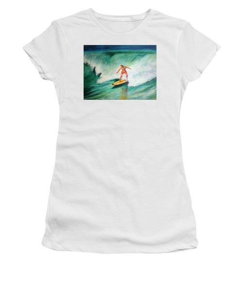 Surfer Dude Women's T-Shirt (Junior Cut) by Patricia Piffath