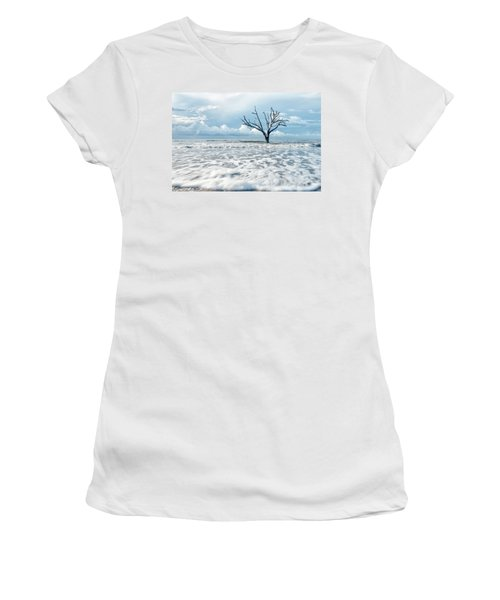 Women's T-Shirt (Junior Cut) featuring the photograph Surfside Tree by Phyllis Peterson