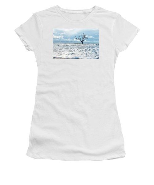 Surfside Tree Women's T-Shirt (Junior Cut) by Phyllis Peterson