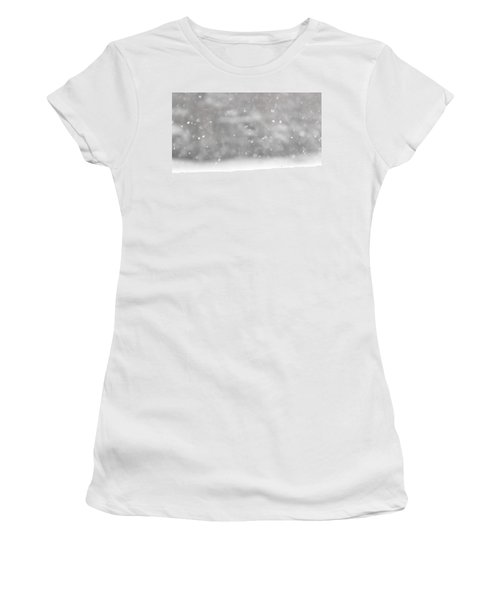 Surreal Snowdrops Women's T-Shirt (Athletic Fit)