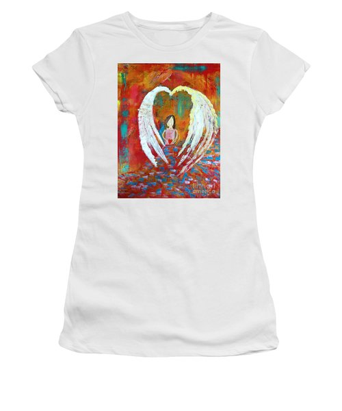 Surrounded By Love Women's T-Shirt (Athletic Fit)