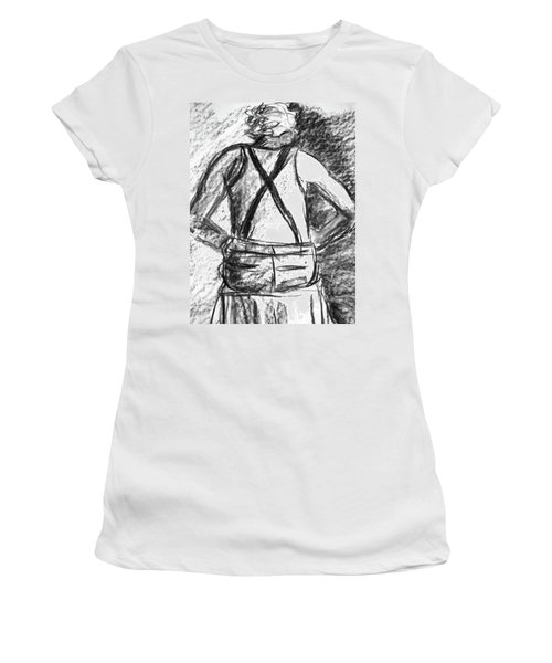 Women's T-Shirt (Junior Cut) featuring the painting Suspenders by Cathie Richardson