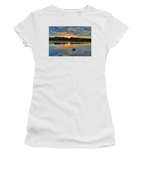 Swan At Sunset Women's T-Shirt (Athletic Fit)