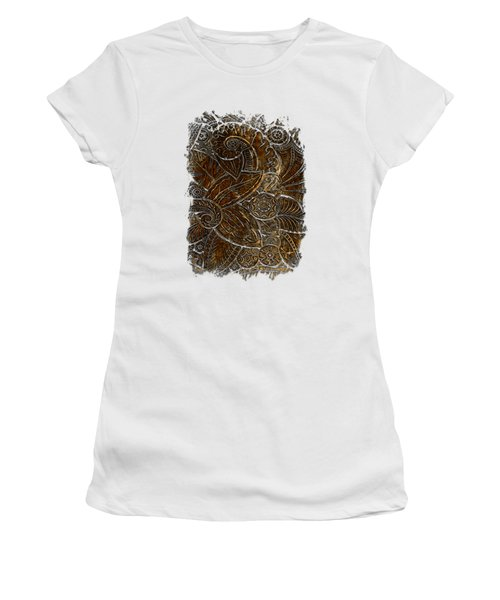 Swan Dance Earthy 3 Dimensional Women's T-Shirt (Junior Cut) by Di Designs