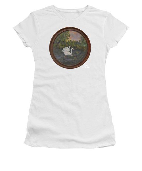 Swans On Lake Women's T-Shirt