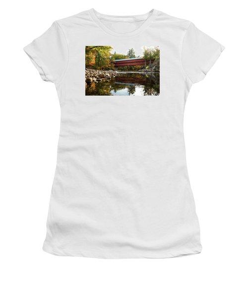 Swift River Covered Bridge Women's T-Shirt