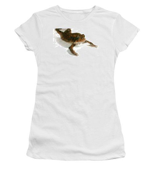 Women's T-Shirt (Junior Cut) featuring the digital art Swimming Toad by Barbara S Nickerson