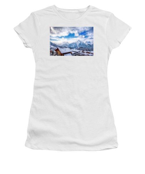 Swiss Alps Women's T-Shirt (Junior Cut) by Pravine Chester