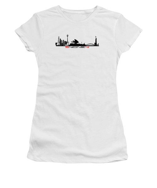 Sydney Skyline Women's T-Shirt (Junior Cut) by Justyna JBJart