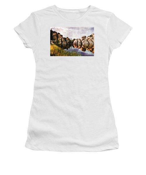 Sylvan Lake - Black Hills Women's T-Shirt (Athletic Fit)