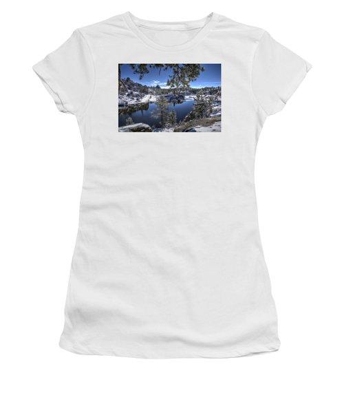 Sylvan Lake Women's T-Shirt (Junior Cut) by Fiskr Larsen
