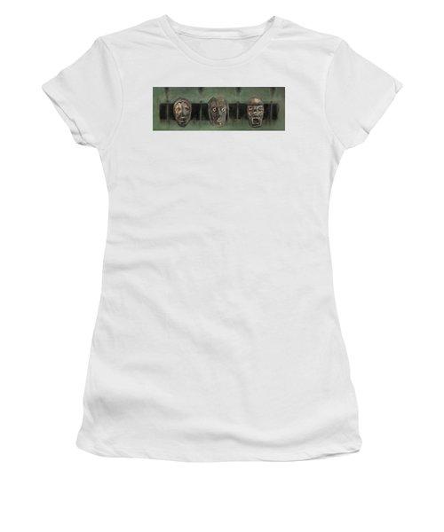 Symbol Mask Painting - 05 Women's T-Shirt (Junior Cut) by Behzad Sohrabi
