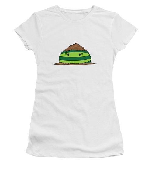T H E . E L E M E L O N S ______________ E A R T H M E L O N Women's T-Shirt (Junior Cut) by H U M E A I M A R T
