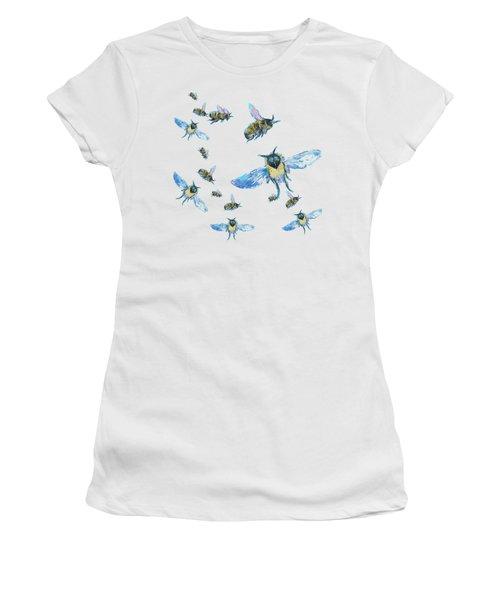 T-shirt With Bees Design Women's T-Shirt (Junior Cut) by Jan Matson