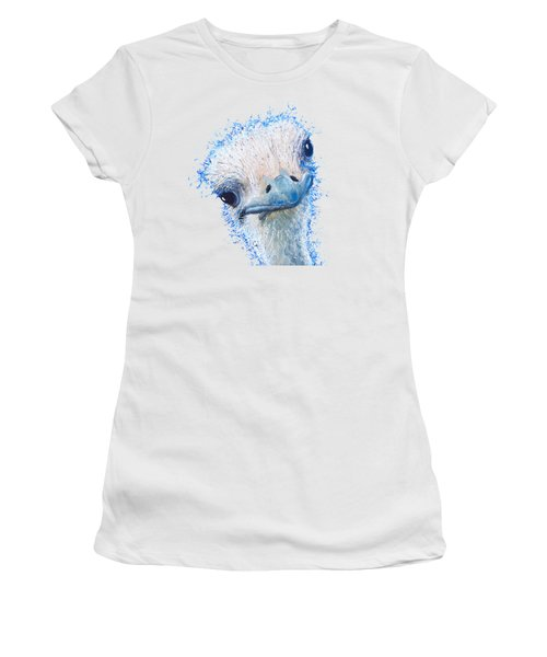 T-shirt With Emu Design Women's T-Shirt (Junior Cut) by Jan Matson